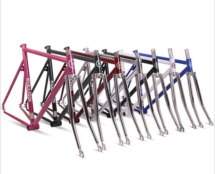 chrome molybdenum steel restoring gold plating road bike frame fixed gear bike 700c 54cm 52cm bicycle