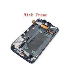 Image 3 - 100% test 5.1 süper AMOLED ekran SAMSUNG Galaxy S6 kenar LCD G925 G925I G925F dokunmatik ekran digitizer çerçeve ile