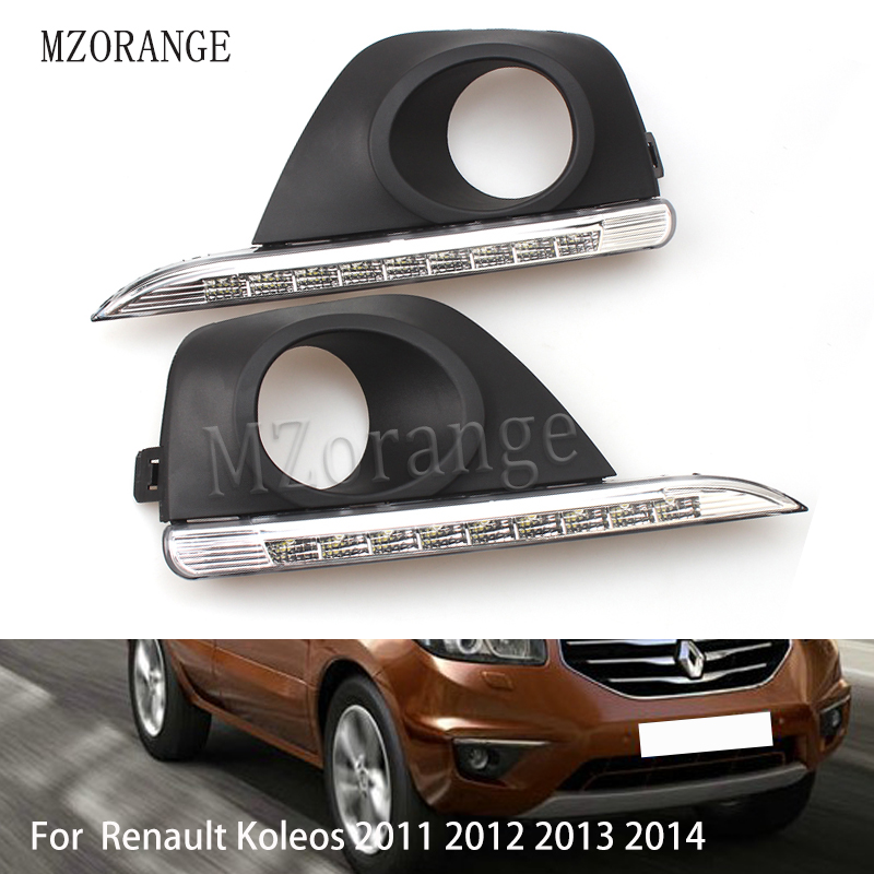 MZORANGE LED Daytime Running Light For Renault Koleos 2011 2012 2013 2014 Car Accessories Waterproof ABS