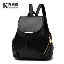 100% Genuine leather Women backpack 2019 New tide women's backpack spring and summer new students fashion casual Korean bag(China)