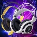 3.5mm ficha sobre fones de ouvido com fio fone de ouvido estéreo branco headband gaming graves fone de ouvido com cancelamento de ruído isolando fones de ouvido sades moyu