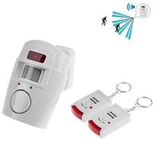 Wireless Remote Controlled Mini Allarme con IR A Raggi Infrarossi Sensore di Movimento del Rivelatore e 105dB Sirena Ad Alta Voce Per La Casa di Sicurezza Anti  furto