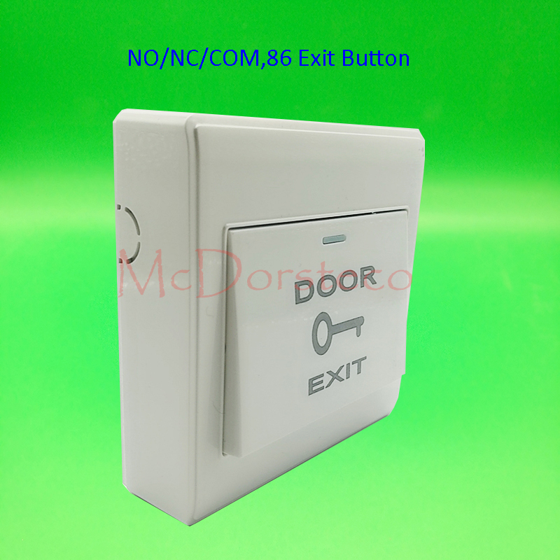 2 PCS Plastic Exit Button Plastic Switch For Single Door Access Control System Press To Exit Switch Push Release Exit +wall Box