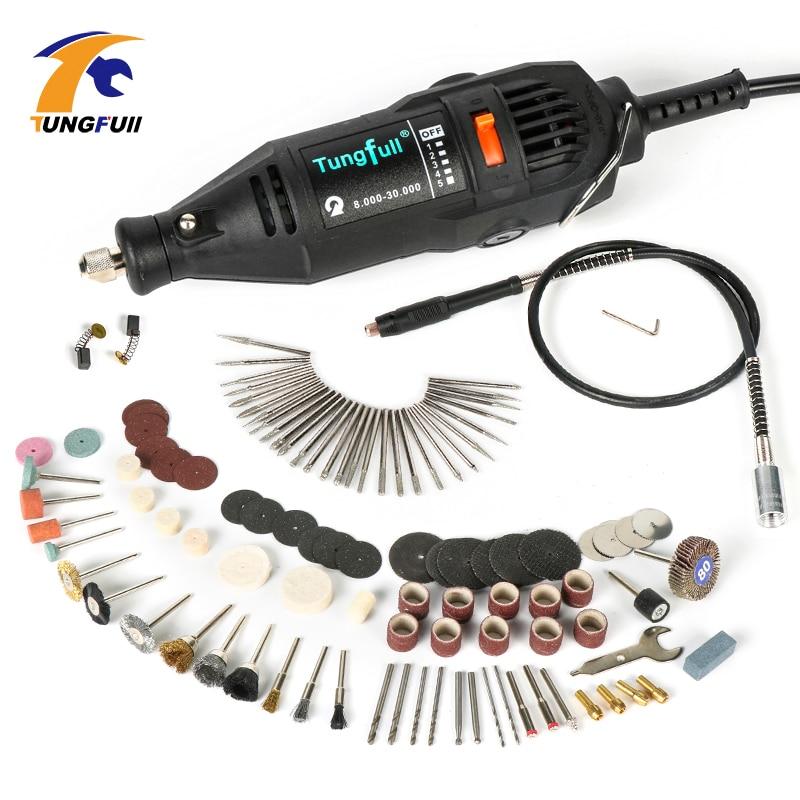 Tungfull Electric drills dremel tools accessories mini drill flex shaft engraver polisher machine grinder for dremel 4000 3000
