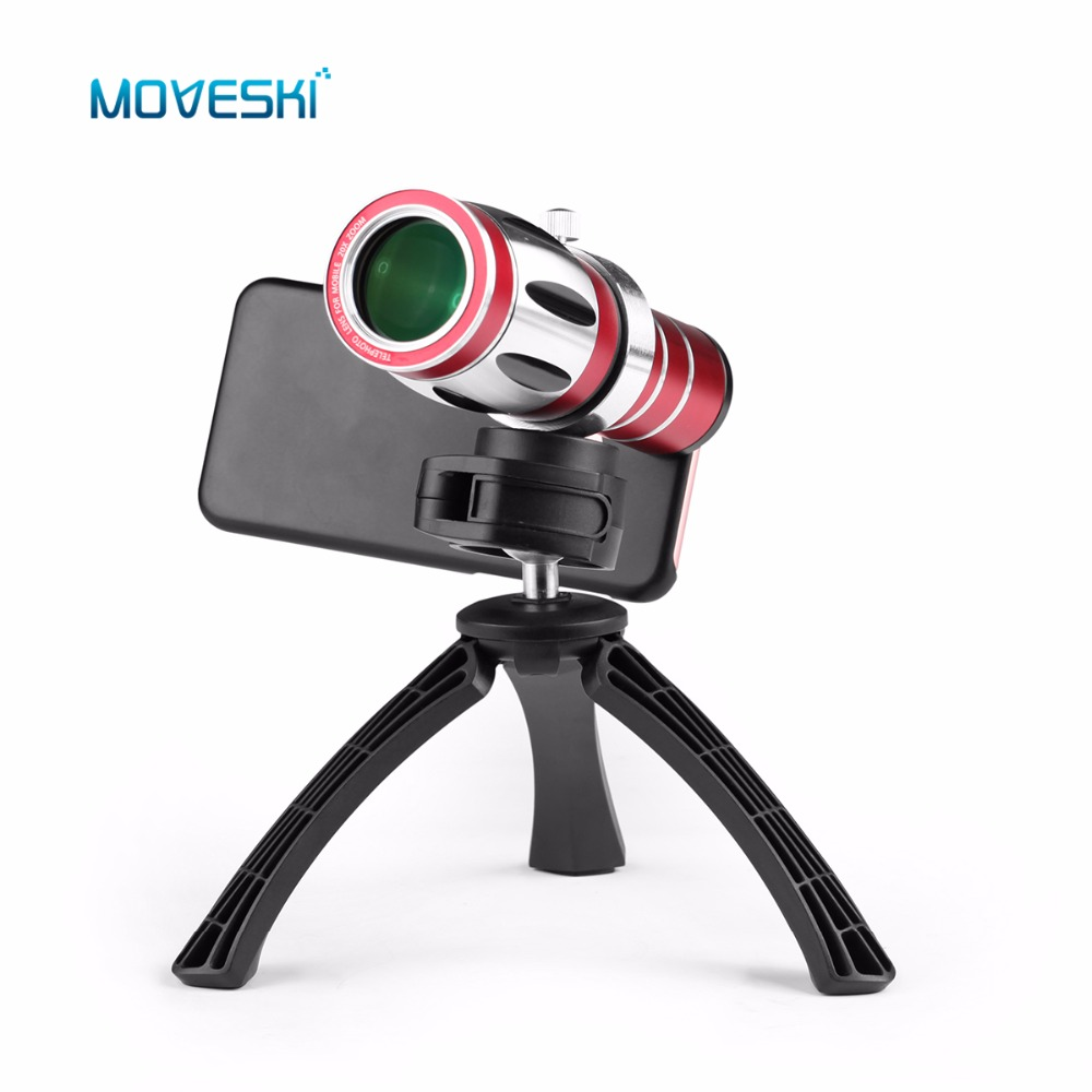 Moveski Telephoto Telescope Phone Camera Lens+Tripod & Back Case 20X Optical Zoom Aluminum For Samsung Galaxy S5 i9600 image