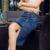 S-6XL Saia Lápis 2017 Verão Breasted Denim Stretch Jeans Na Altura Do Joelho-Comprimento Saias das Mulheres para a Mulher