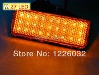 Amber Lens Rectangle Amber Light Orange Color New LED Reflector Tail Brake Stop Marker Light Indicator