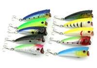 100ピースisca人工餌ポッパー釣りルアー6センチ/7グラム魚トップウォーターハード餌釣りタックルワブラーフローティングクランクベイト
