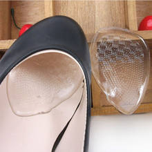 1 Pair 3/4 Gel Woman Insole Pad For High heels,flat Feet insoles,Clear Cushion Soft Shoe Pads Insoles Inserts Foot Care(China)