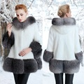 2016 High quality new fur imitation mink fur coat jacket large size slim thick long hooded mink coat dress code 5XL Ultra large.