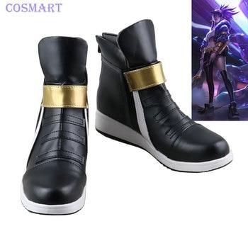 LOL KDA Akali Cosplay Shoes K/DA Akali Shoes For Women 2018 Hot Game free shipping