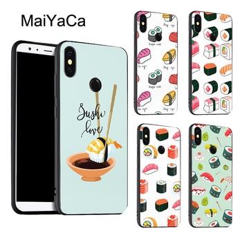 Comida rápida SUSHI fideos caso de colección para Xiaomi Redmi Nota 8 9 K30 Pro 7 T 8 S 7A 8A Mi 9T 9 10 Lite A3 Max3 Mix3