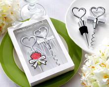 Super Offer New Arrival Wedding Favor Cheers To a Great Combination Wine Set (1 Stopper +1 Bottle Opener) Wholesale