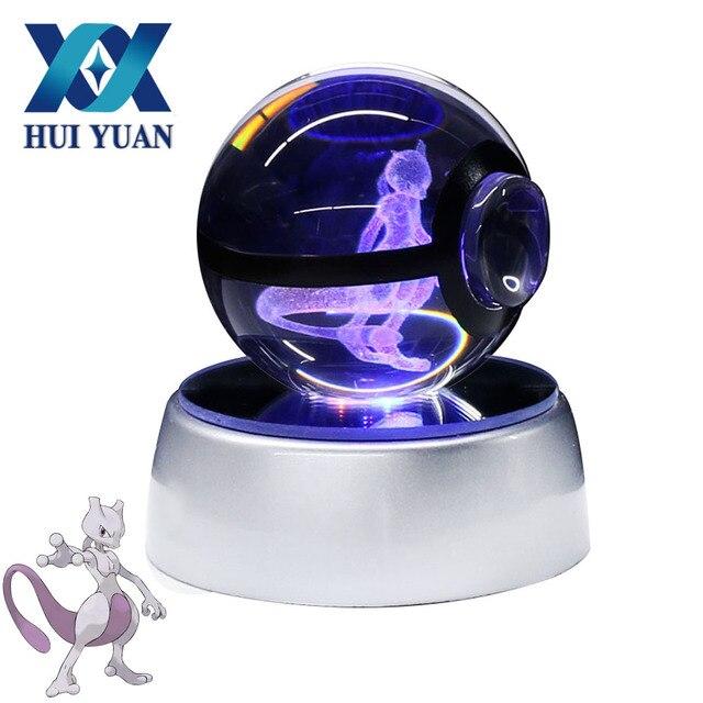 Hui Yuan Pokemon Crystal Ball Mewtwo 5cm 3d Laser Go