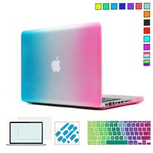 Rainbow Color Hard Protective Case For MacBook Air 13 inch,Pro Retina 13 15 Laptop cases with Design Keyboard Cover Stickers