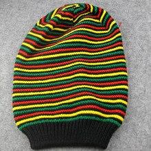 Novo à moda bob marley reggae chapéu jamaicano pom slouch baggy beanie tarja borda algodão inverno mais quente viseira tarja boné 2020