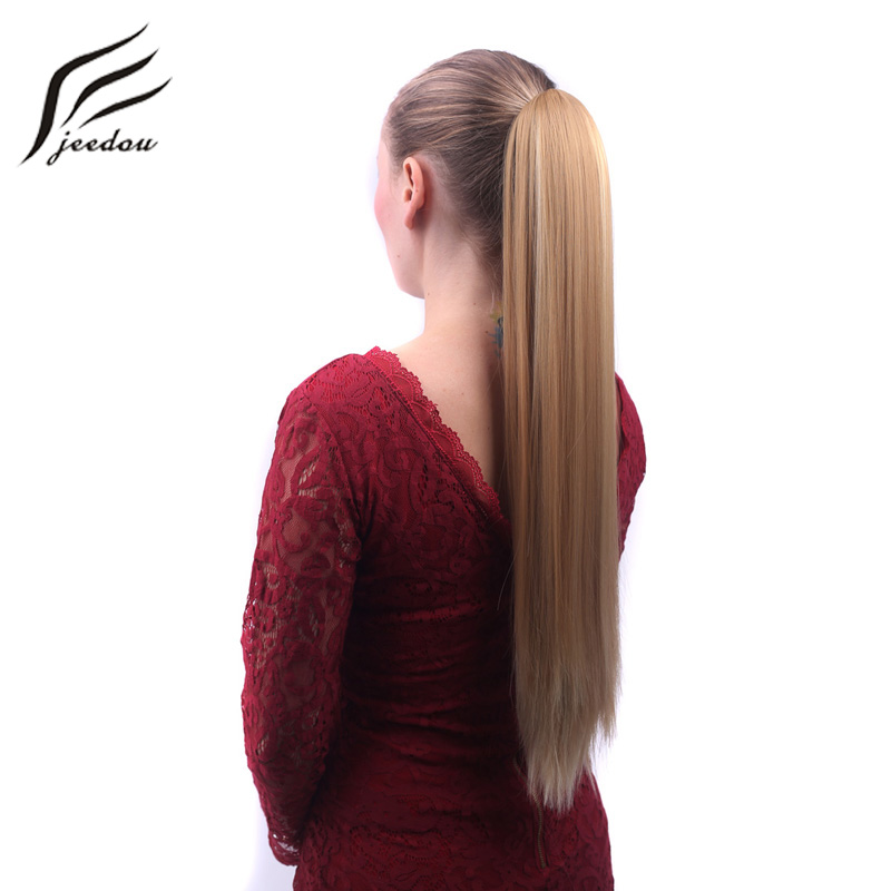 jeedou Straight Synthetic Ponytails Hair Extensions Long Claw - Սինթետիկ մազերը