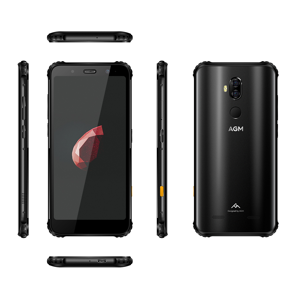 Image 5 - OFFICIAL AGM X3 5.99'' 4G Smartphone 8G+64G SDM845 Android 8.1 IP68 Waterproof Mobile Phone Dual BOX Speaker tuned by JBL NFC-in Cellphones from Cellphones & Telecommunications