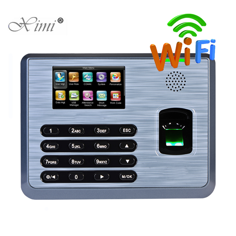 ZK TX628 Biometric Fingerprint Time Attendance With WIFI TCP/IP RS232/485 Linux System Fingerprint Reader Time Recording