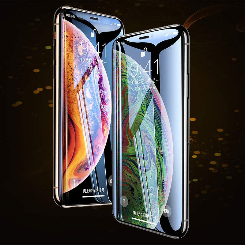 Image 5 - 99D Protective Glass on the For iPhone X XS Max XR Tempered Screen Protector Full Cover Curved Glass For iPhone 6 s 7 8 Plus XR-in Phone Screen Protectors from Cellphones & Telecommunications