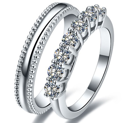 factory promotion his and her promise synthetic diamonds rings for lover wedding engagement couple ring sterling - Cheap Wedding Rings For Him And Her