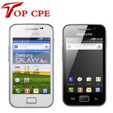 Оригинальный Samsung Galaxy ACE S5830 S5830i Разблокирована Сотовый телефон Wifi GPS 5MP Камера 2 Г WCDMA Восстановленное GPS WIFI Бесплатно доставка