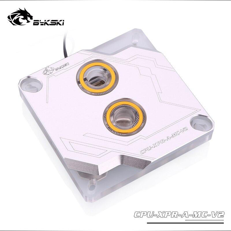 Купить с кэшбэком Bykski CPU Water Block use for INTEL LGA1150 1151 1155 1156 2011 2066 X99 I7 RGB Light Support 5V 3PIN GND Header to Motherboard