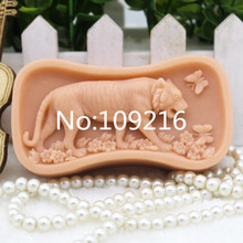 New Product!! 1pcs New Style Tiger (ZX289) Food Grade Silicone Handmade Soap Mold Crafts DIY Silicone Mould