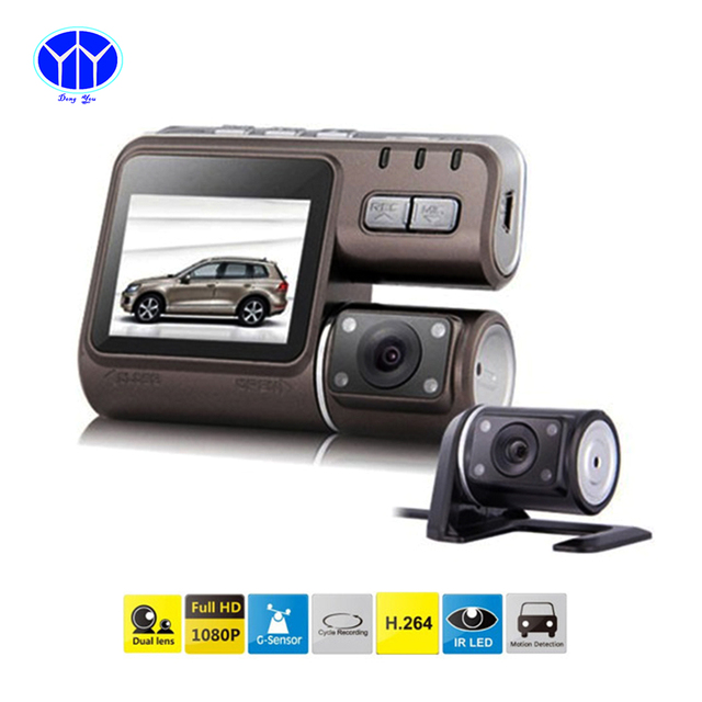 Novatek Car DVRS I1000 HD Dashboard Camera Black Box Dual Len Video Recorder Registrator G-Sensor 170 Wide Angle Dash Cam DVR