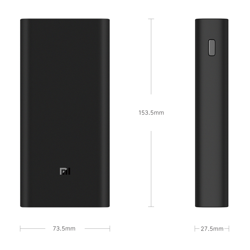 Image 2 - 2019 NEW Xiaomi Power Bank 3 20000mAh Mi Powerbank USB C 45W Portable Charger Dual USB Powerbank for Laptop Smartphone PLM07ZM-in Power Bank from Cellphones & Telecommunications