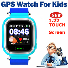 Best Mini GPS Watch GPS/GSM Tracker Watch For Kids Children Smart 1.22 Touch Screen Watch SOS GSM Phone Android&IOS Anti Lost