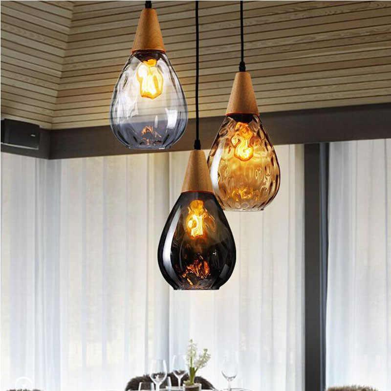 샹들리에 램프에 대 한 유리 펜 던 트 부엌 식당 커피 숍 hanglamp luminarias 로프트 산업 빈티지 샹 들리