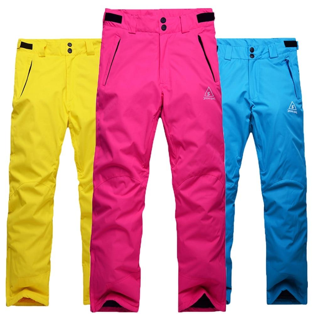 Prix pour Nouvelle Arrivée 2016 pantalons de ski Hommes Femmes Étanche Chaud Snowboard Pantalon Épaissir Coton Amoureux Pantalons De Neige D'hiver Hommes Ski Pantalon