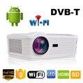 5500 Lúmenes oley Best Android 4.4 Wifi Inteligente 1080 P Full HD TDT de TV Digital Proyector Casero Proyector lcd Led Proyector 3D