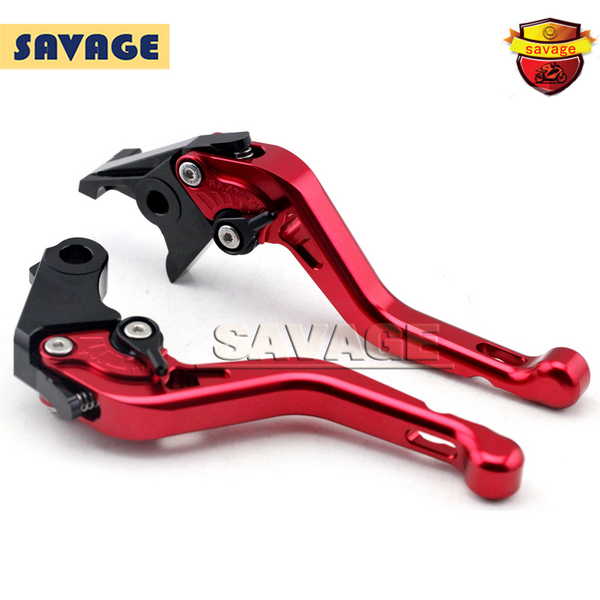 ФОТО For HONDA CB400 VTEC/Super CB400X CB750 Red Motorcycle CNC Billet Aluminum Short Brake Clutch Levers