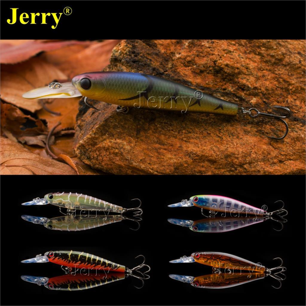 Jerry Giappone minnow jerkbait 6.5 cm/2.6in 6g di alta qualità BKK gancio lento affondamento di alta qualità duro di pesca di trasporto esca di richiamo tappi per le orecchie
