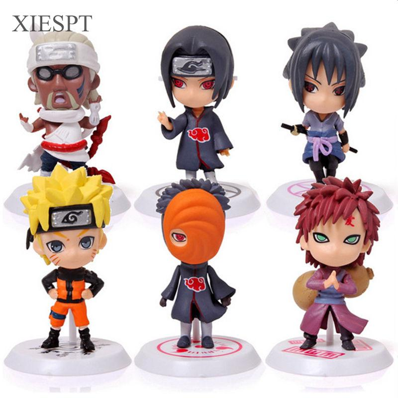 XIESPT Classic Figurine 6pcs/set Naruto PVC Action Figure Toys Full Set Model Collection Free Shipping christos p kitsos cancer bioassays a statistical approach