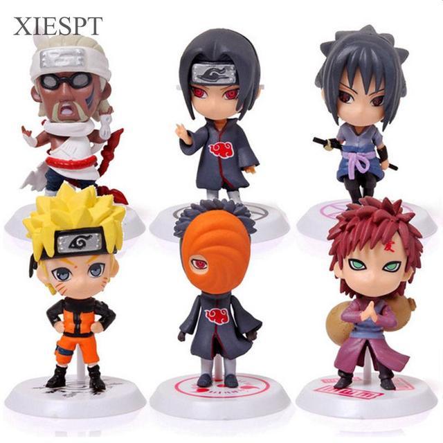 Naruto 6pcs/set PVC Action Figure Toys
