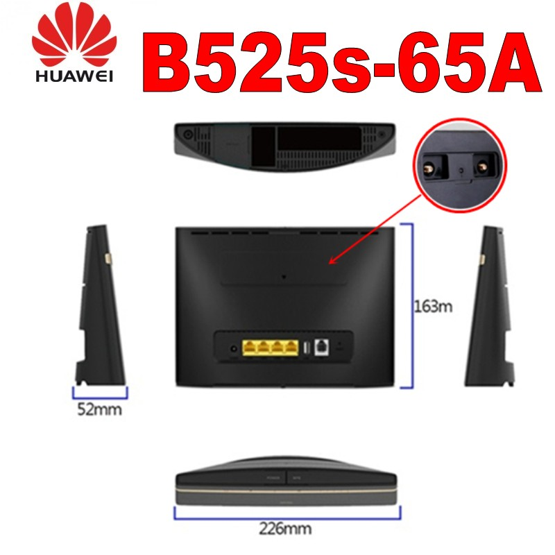 US $223 2 10% OFF (+2pcs original antenna)huawei B525S 65a  Band1/2/3/4/7/8/20/1400/(B5,19,26)/28/38/40/41-in Modem-Router Combos from  Computer &