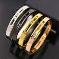 Carter fina titanium aço amor bracelet & bangle jóias mulher com três carreira ol oco pulseira h para cada botão presente