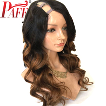 PAFF Ombre U Part Human Hair Wigs Body Wave 100% Brazilian Remy Hair Middle Part 1*3
