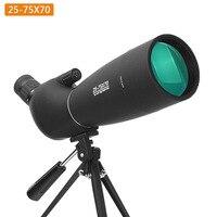 25 75 times Spotting Scope Zoom Telescope 5.0M Waterproof Birdwatch Hunting Monocular & Universal Phone Adapter MountF9308