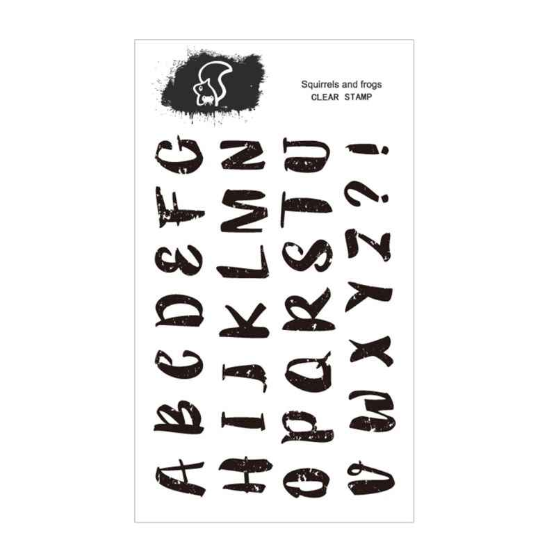 Letras inglesas capitalizadas silicone selo claro diy scrapbooking gravando foto cartão decorativo artesanato arte artesanal presente
