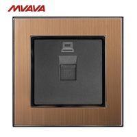 MVAVA RJ45 Outlet Computer Jack Plug Port Wall Socket PC LAN Data Receptale Luxucy Gold Satin