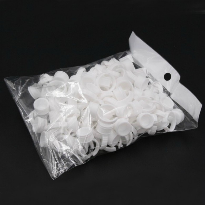 100 Pcs/Lot Semi-Permanent Eyelash extension Beauty Makeup Accessories Pigment Ring Cup Small Tattoo Ink Rings