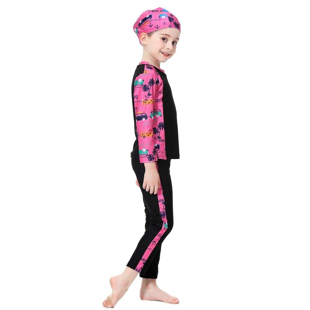 Full Coverage Swimwear Islamic Swim Beachwear Burkinis Islamic Swimwear Muslim Swimsuit Girls Hijab