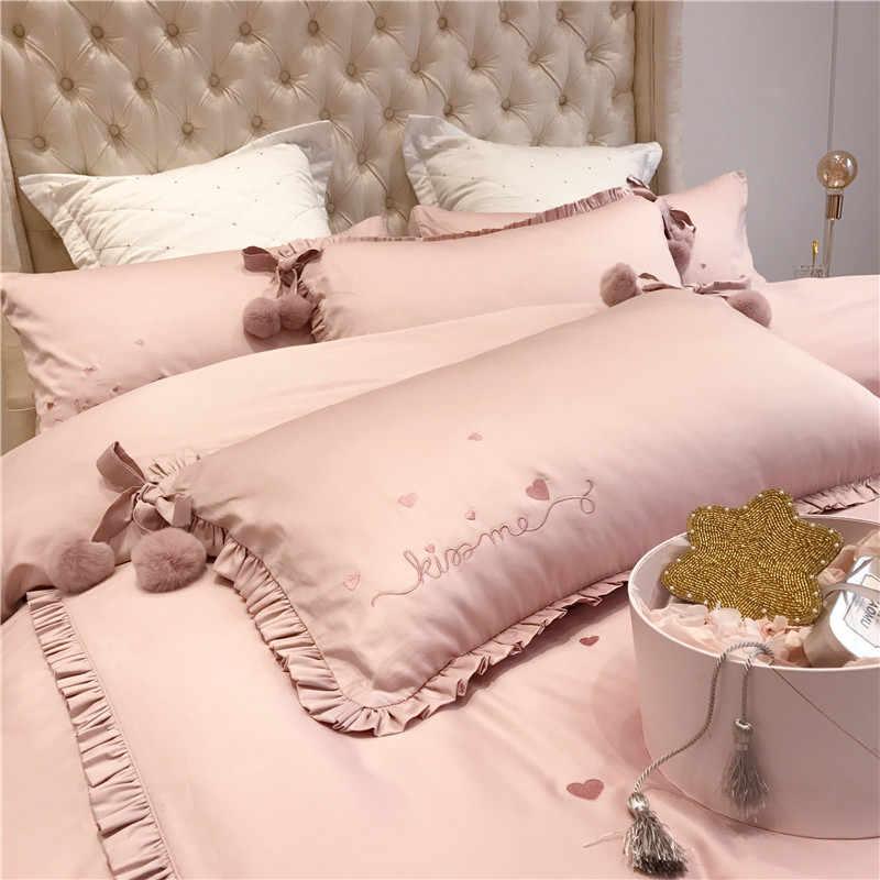 New Luxury Pink Bohemia Digital Printing Egyptian Cotton Bedding Set Duvet Cover sed Bed 4pcs sheetLinen Pillowcase