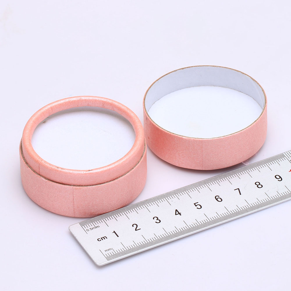 engagement ring box pink round paper box for wedding ring 1pc order ...