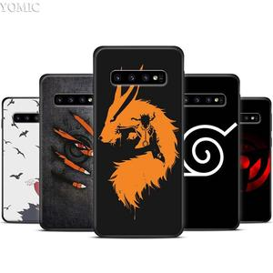 Naruto anime Black background Black Silicone Case for Samsung Galaxy S10 S10e S8 S9 Plus S7 A40 A50 A70 Note 8 9 Soft Cover Case(China)