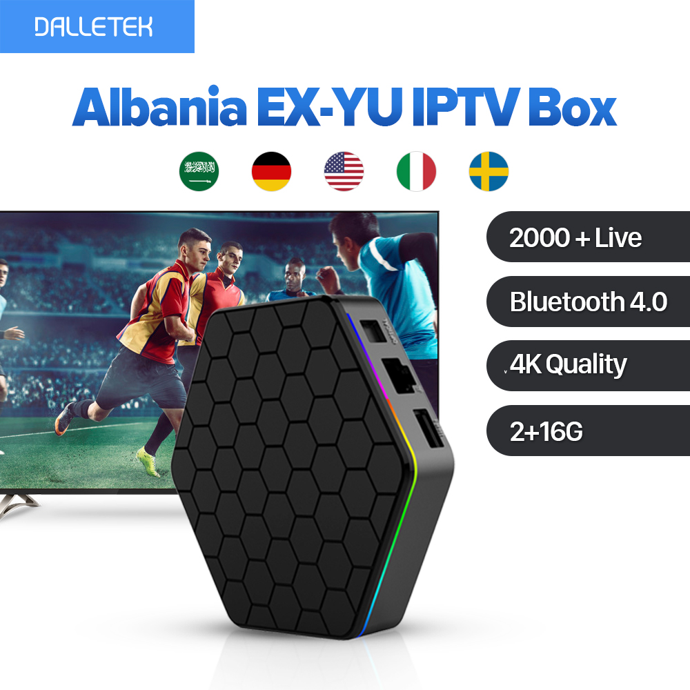 Albania EX-YU Smart Android 6.0 IPTV Box TV Receiver 1 Year Abonnement French Italy Turkish Netherlands IPTV Channels Top Box 1year iptv t95n set top box italy uk de european iptv box for spain portugal turkish netherlands smart tv box shipping